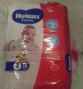 Подгузники Huggis classic 3