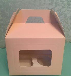 Коробочка на 2 капкейка