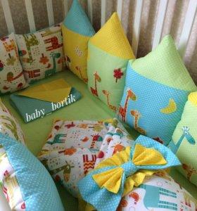 Комплект в кроватку+одеяло на выписку