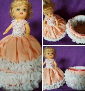 Шкатулочка-куколка