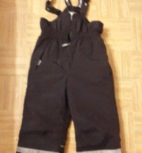 Штаны ленне новые,(180 гр утеплителя)рост 110