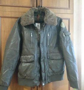 Куртка кожаная новая р.48