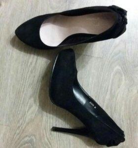 Туфли замшевые р-р 38