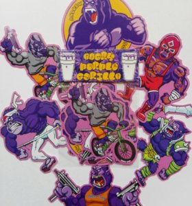 Стикерпак Angry Purple Gorilla (стикеры, наклейки)