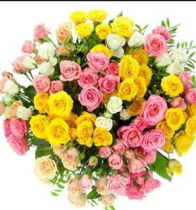Букет 51 кустовой розы