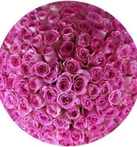 Букет 101 розовой розы