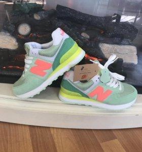 Кроссовки New Balance кислотные зеленые