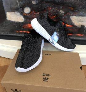 Мужские кроссовки adidas yeezy boost серые