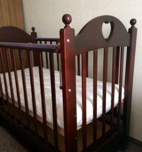 Роскошная кроватка +матрац Plitex Bamboo Nature