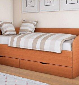 Кровать с ортопедическим матрасом Ascona полуторка