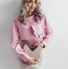 Блузка розовая нежность