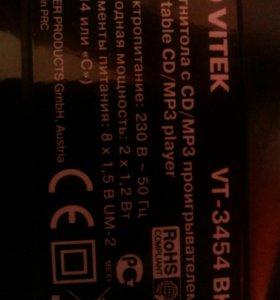 Магнитола VITEK-3454 с CD/MP3 проигрывателем