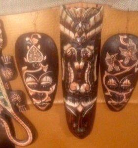 Деревянные маски ручной работы