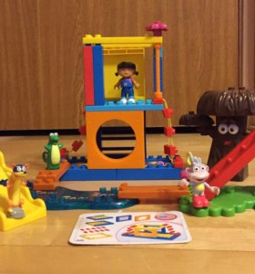 Mega Bloks и Lego Duplo Даша, Томас и полиция