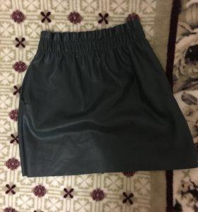 Кожаная юбка ZARA