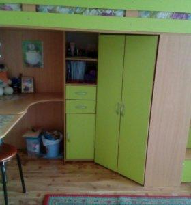 Продается 'Мийа, кровать зеленый/бук 1 шт