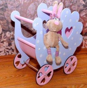 Коляска для кукол деревянная (новая)