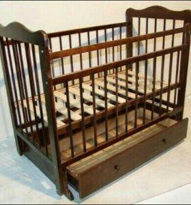 Кровать-маятник/деревянные бортики