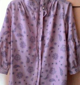 Рубашка-блузка с поясом