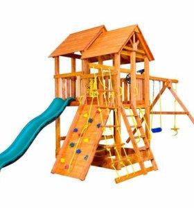 Детские игровые площадки, горки, домики