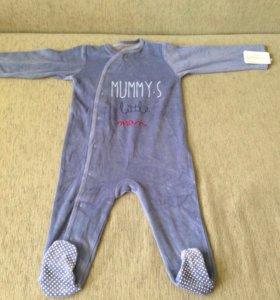 Новый комбинезон-пижама 9-12 месяцев