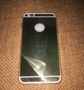 Новый Чехол на телефон айфон 6 s+(зеркальный gold)