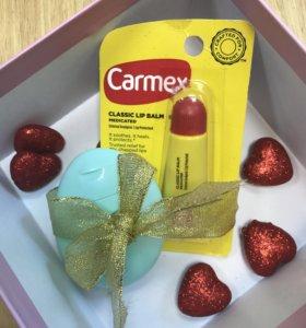 Крем для рук EOS и carmex