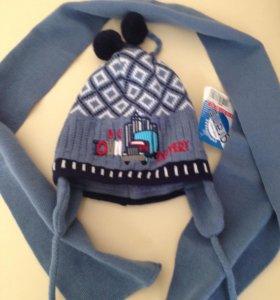 Новый зимний комплект шапка+шарф Польша р.44-46