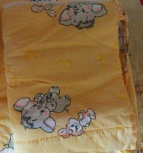 Бортики и балдахин в кроватку