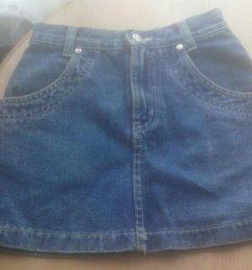 Джинсовые 3 юбочки для девочки