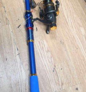 Удочка телескопическая с катушкой в сборе!