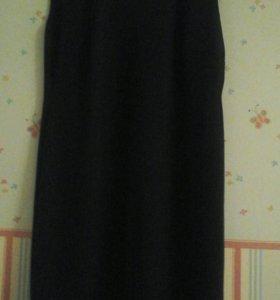Чёрное трикотажное платье 50-52 р новое