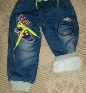 Новые утепленые джинсы на мальчика 92р-ра