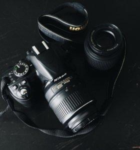 Фотоаппарат NIKON d3100kit с доп. объективом