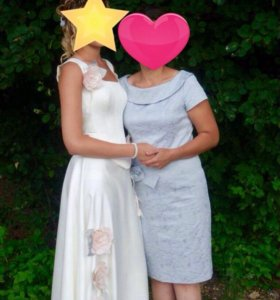 Платье молочное