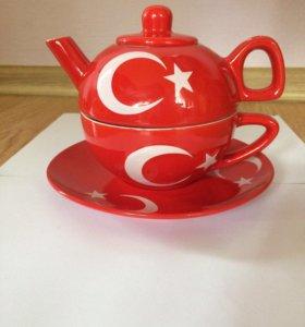 Набор чайный из трёх предметов турецкий новый