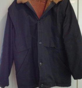 Мужской бушлат, куртка на овчине