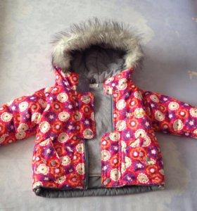 Куртка и штанишки комбинезоном зимние б/у