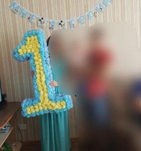 Цифра для Вашего малыша, 1 метр,гирлянда в подарок