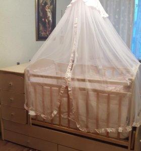 Продаётся Детская кровать трансформер от 0 до 8лет