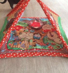 Развивающий коврик-домик