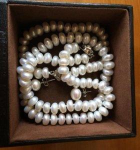 Жемчуг ( ожерелье, браслет, сережки)