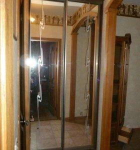 Шкаф купе с зеркальными дверями и подсветкой и фью