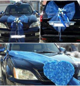 Свадебные украшения на авто и украшение фотозон
