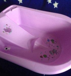 Ванночка детская с горкой и сливом