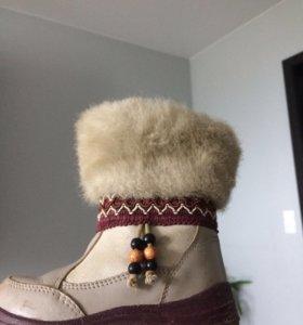 Зимние сапоги котофей на натуральном меху
