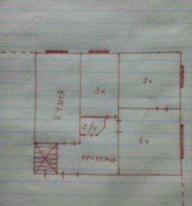 Квартира, 3 комнаты, 38 м²