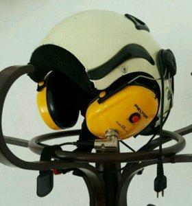 Шлем лётный с гарнитурой