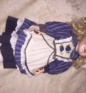 Кукла фарфоровая, 43см