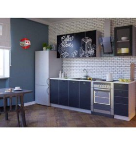 Кухня с фотопечатью Тайм. 1.6 метра